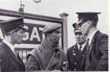 At Margate station a French railwayman, temporarily a soldier talks with station staff.