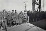 German PoWs at Dover including Wehrmacht, Luftwaffe and SS personnel.