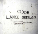 Original Stenciled sign in a CORF Casemate