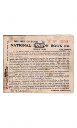 British Ration Card Front