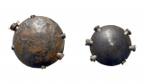 Large and small German disc grenades